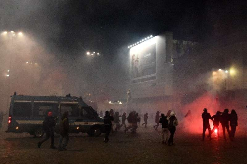 Unpopular Covid-19 restrictions have sparked violent clashes in Italy