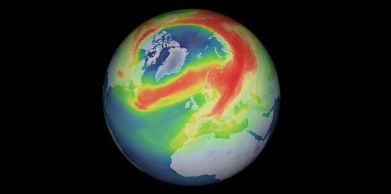 Unusual ozone hole opens over the Arctic