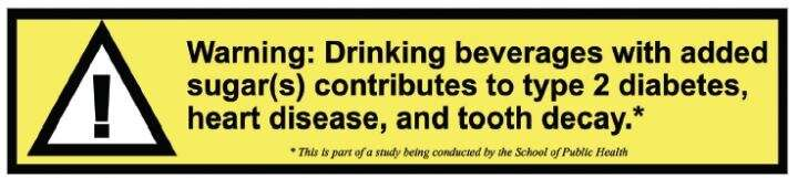 Warning labels reduce sugary drink consumption in university setting, researchers found