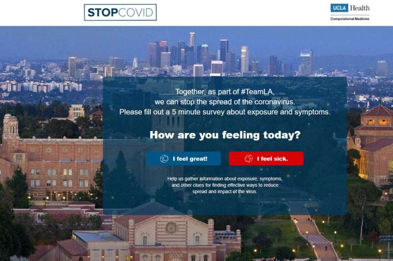 Web app will enlist public's help in slowing the spread of COVID-19