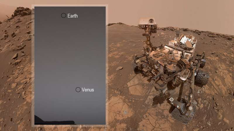 While stargazing on Mars, Curiosity rover spots Earth and Venus