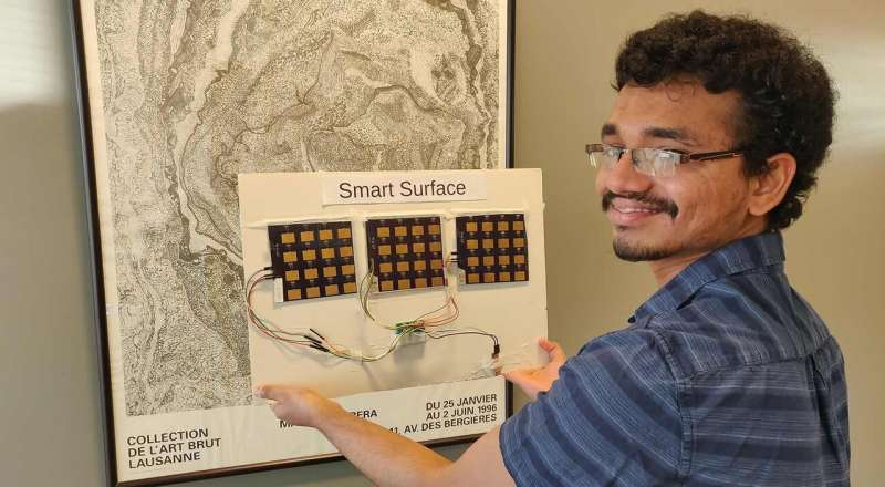 Wi-Fi-boosting 'smart surface' could help remote workers and students