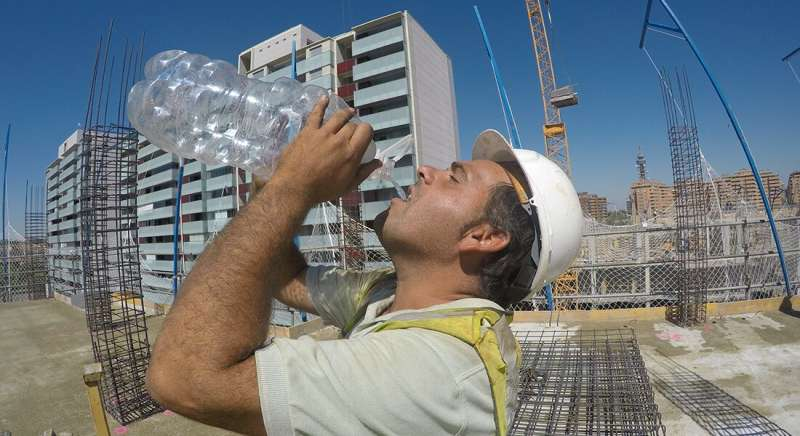Working in the sun -- heating of the head may markedly affect safety and performance