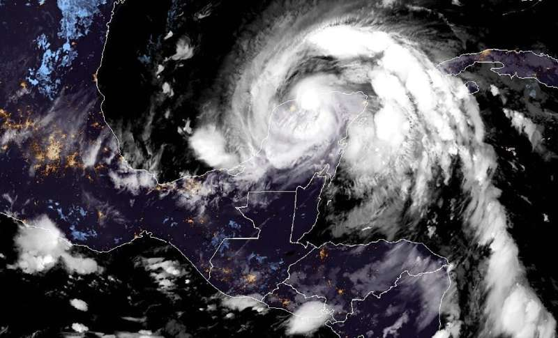 Zeta hit Mexico's Caribbean coast as a Category 1 hurricane but lost strength as it moved over land
