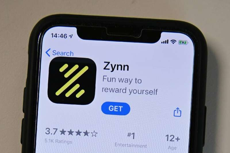 Zynn's interface is a near-clone of TikTok, but with one major difference - the app pays users to keep scrolling