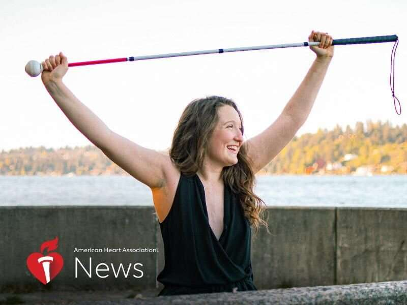 AHA news: stroke, blindness, a heart transplant – and a can-do spirit