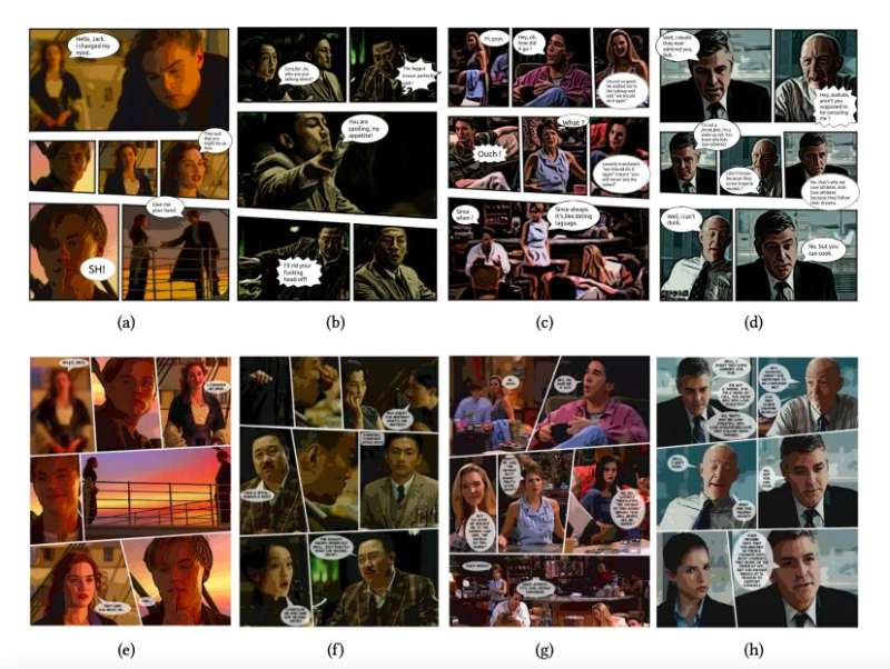 A system that automatically generates comic books from movies and other videos