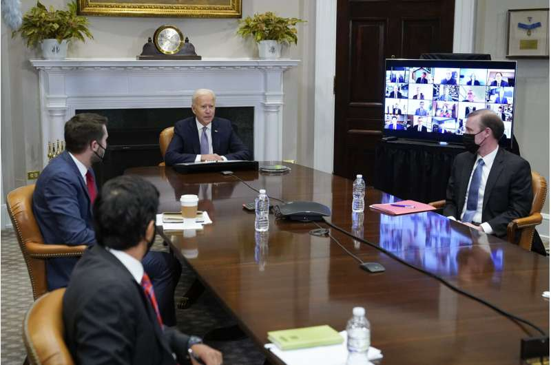 Biden tells execs US needs to invest, lead in computer chips