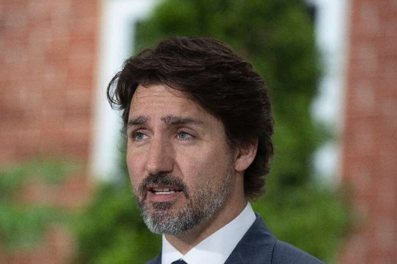 Canadian Prime Minister Justin Trudeau, pictured in June 2020, spoke with his Australian counterpart about online platform regul