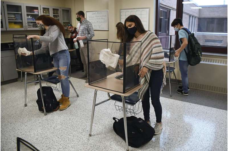 CDC changes school guidance, allowing desks to be closer