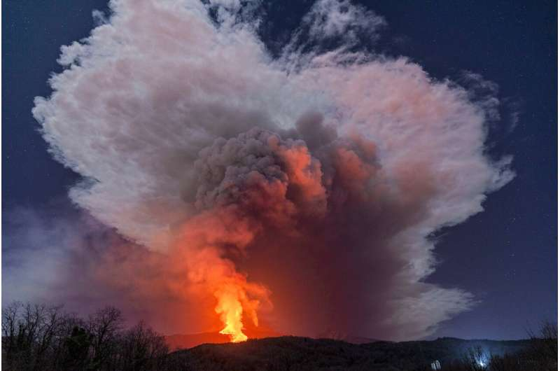 Etna keeps up its spectacular explosions; ash rains on towns