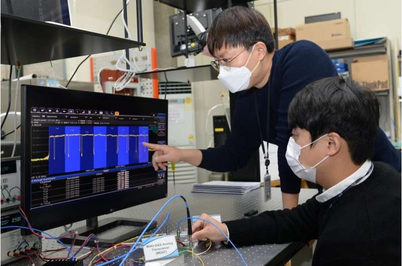 ETRI mengembangkan teknologi DAS (Distributed Antenna System) dalam ruangan 5G pertama di dunia