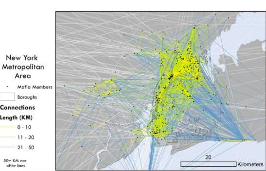 GIS technology helps map out how America's mafia networks were 'connected'