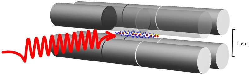 Investigating the wave properties of matter with vibrating molecules