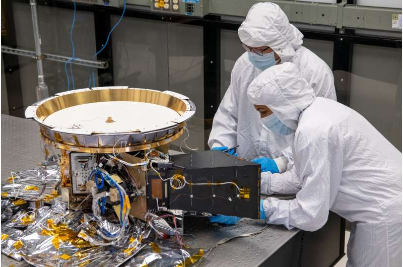 NASA's first mission to the trojan asteroids installs its final scientific instrument