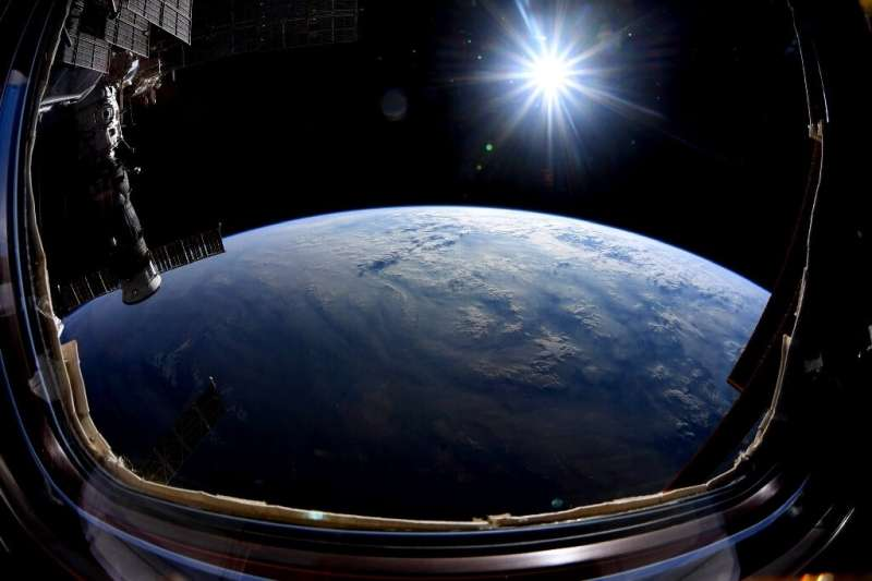 Photograph of Earth taken by astronaut Nick Hague from the International Space Station in 2019