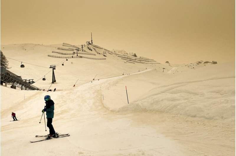 La columna de polvo del Sahara provocó un aumento en la contaminación del aire en Europa
