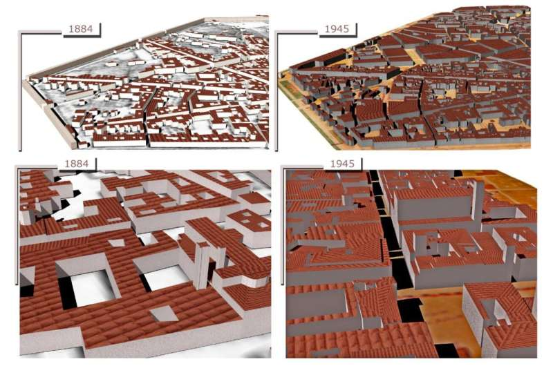 Revive the map: 4-D building reconstruction with machine learning