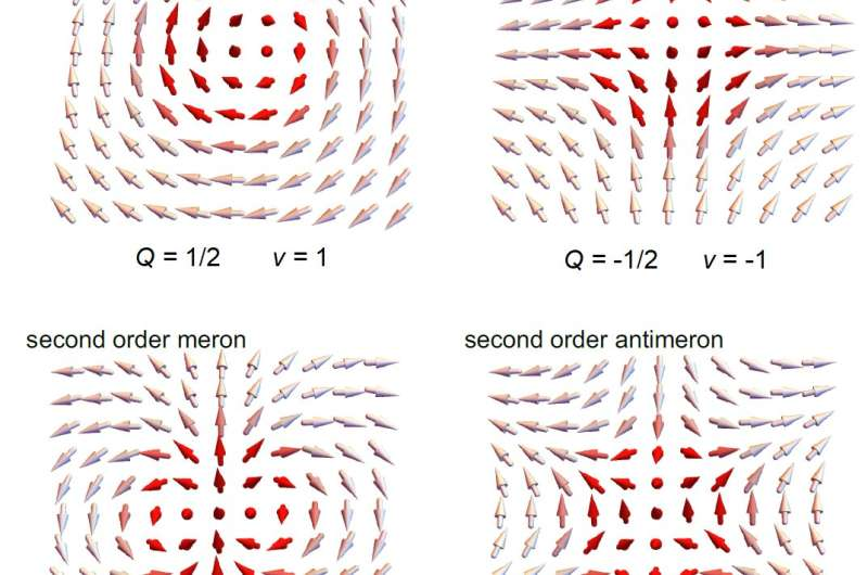 Second order optical merons, or light pretending to be a ferromagnet