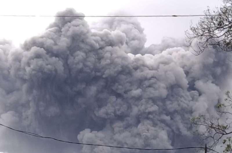 Semeru volcano on Indonesia's Java island spews hot clouds