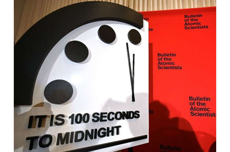 The 'Doomsday Clock' will remain at 100 seconds to midnight, the Bulletin of the Atomic Scientists said, amid the threats from C