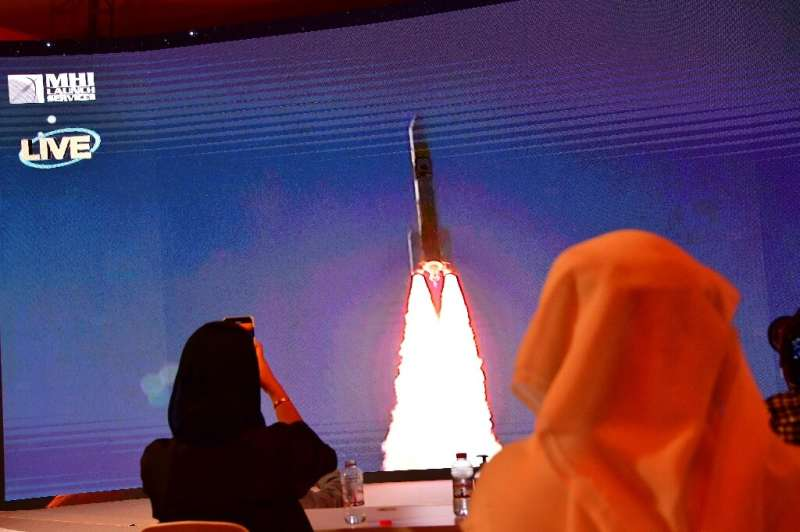 "The ""Hope"" probe known as ""Al-Amal"" in Arabic will orbit Mars for at least one Martian year, or 687 days, an"