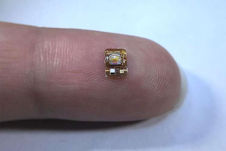 Tiny wireless implant detects oxygen deep within the body