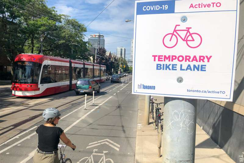 Toronto's COVID-19 bike lane expansion boosted access to jobs, retail, study finds