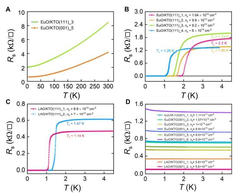 Two-dimensional superconductivity and anisotropic transport at potassium tantalate interfaces