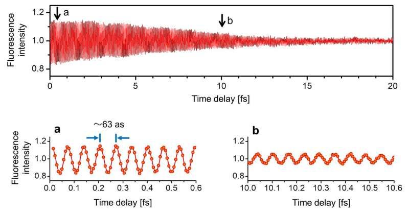 Ultrafast intra-atom motion tracked using synchrotron radiation