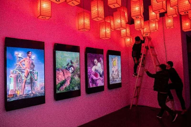 Works by digital artist Beeple exhibited in Beijing in March