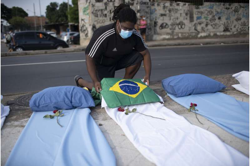 Brazil becomes 2nd nation to top 300,000 COVID-19 deaths