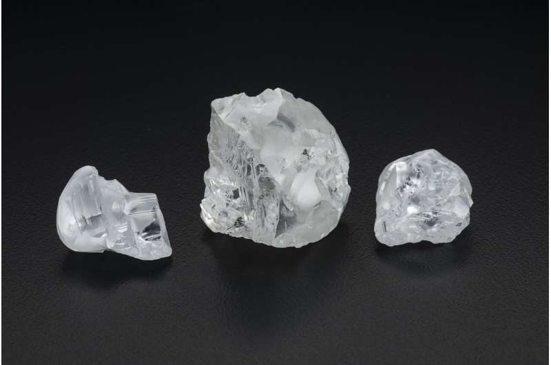 Deep diamonds contain evidence of deep-Earth recycling processes