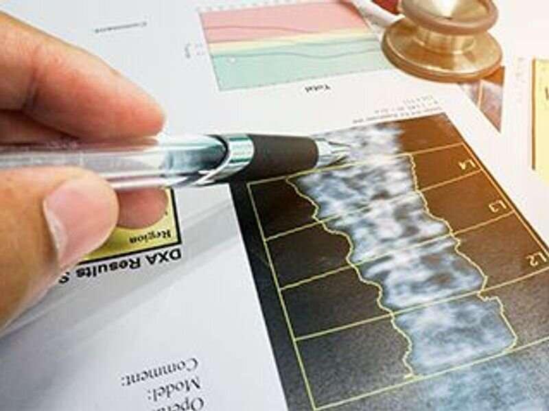 Osteoporosis prevalence at femur neck, lumbar spine 12.3 percent