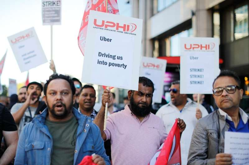 Uber drivers in Britain have staged strikes to get better wages and benefits