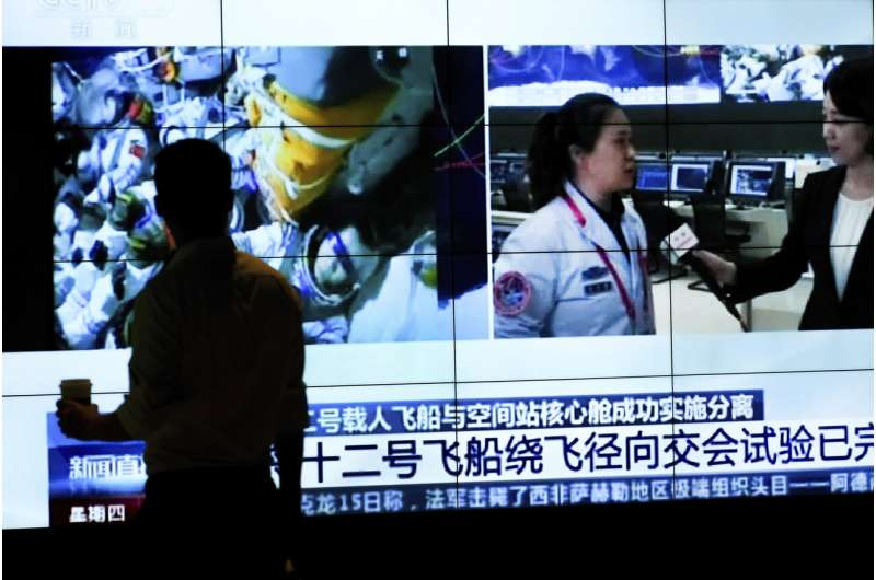 3 crew leave China's space station for Earth after 90 days