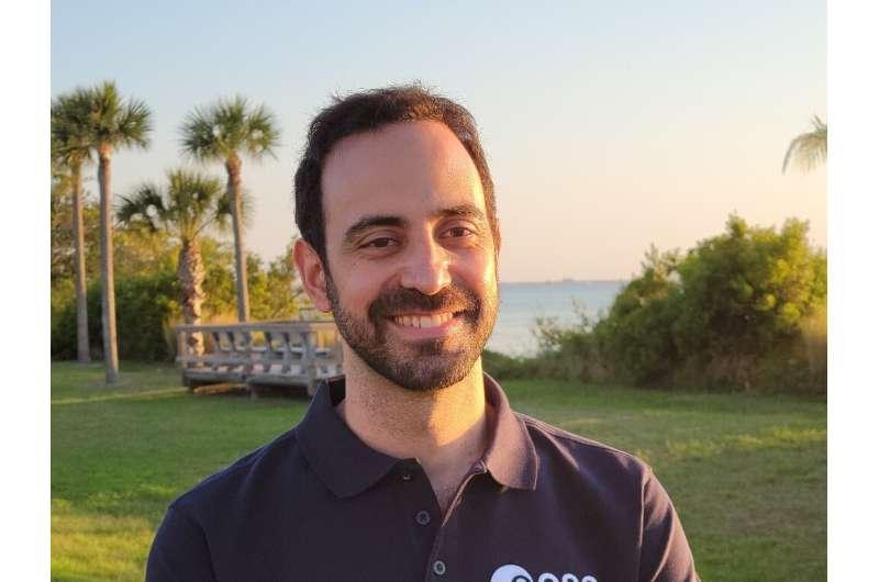 European Space Agency flight surgeon Adrianos Golemis, in Cape Canaveral, Florida
