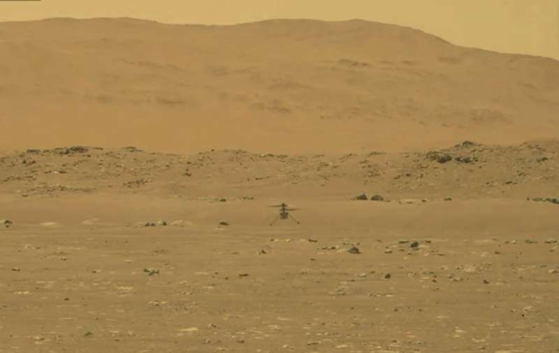 NASA's Mars helicopter takes flight, 1st for another planet