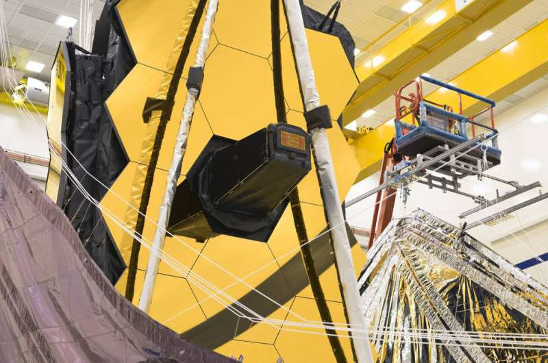 NASA's Webb Telescope packs its sunshield for a million mile trip