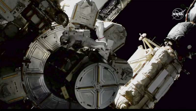 Spacewalkers take extra safety precautions for toxic ammonia