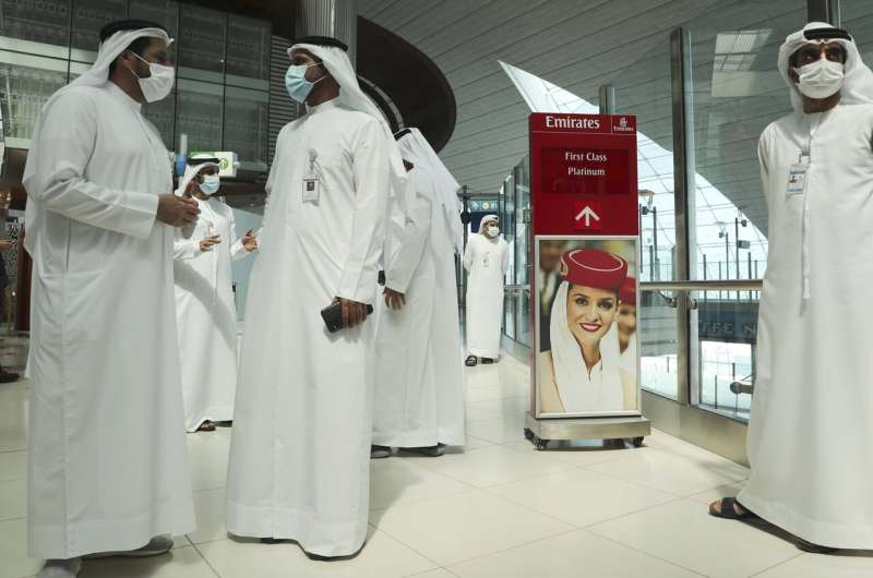 At Dubai airport, travelers' eyes become their passports