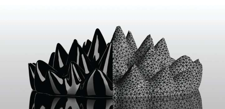 Ferrofluid surface simulations go more than skin deep