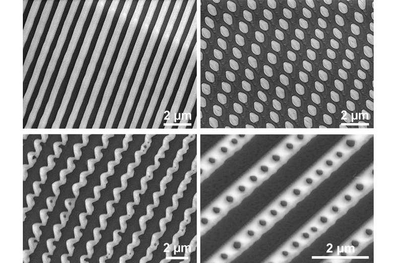 Zebra stripes, leopard spots and other patterns on the skin of frozen metal alloys that defy conventional metallurgy