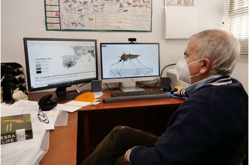 Risk maps to predict West Nile virus spread a year in advance