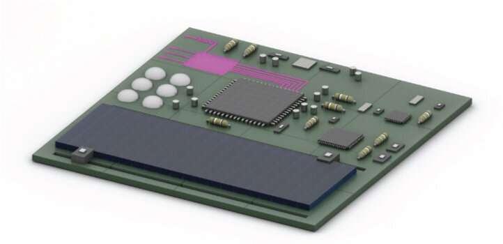 Pumping perovskites into a semiconductor platform
