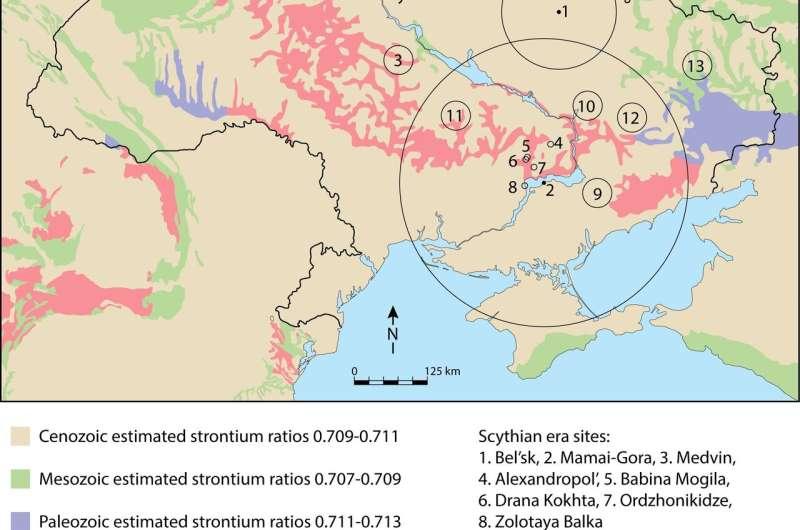 Scythian people weren't just nomadic warriors, but sometimes settled down
