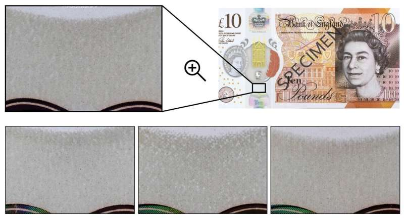 Identifying banknote fingerprints can stop counterfeits on streets