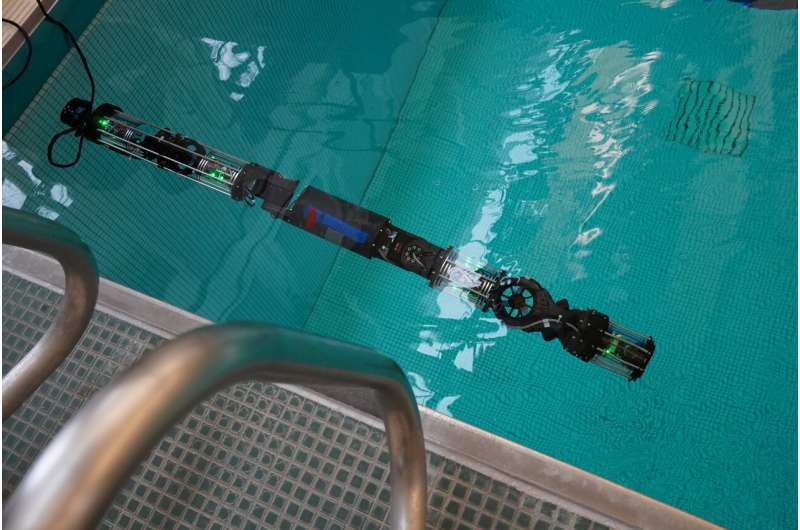 Biorobotics lab builds submersible robot snake