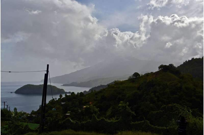 Explosive eruption rocks volcano on Caribbean's St. Vincent