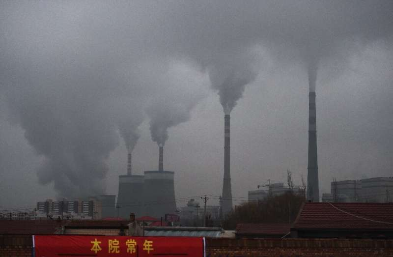 A coal-fuelled power station in China's northern Shanxi province
